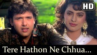 Tere Hathon Ne Chhua - Govinda - Juhi Chawla - Karz Chukana Hai - Hindi Songs - Rajesh Roshan