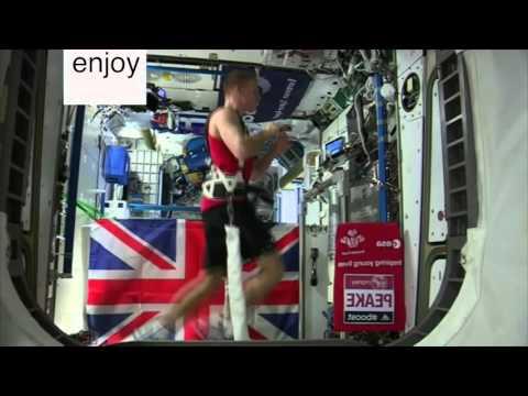 Space marathon, international space station joins London marathon