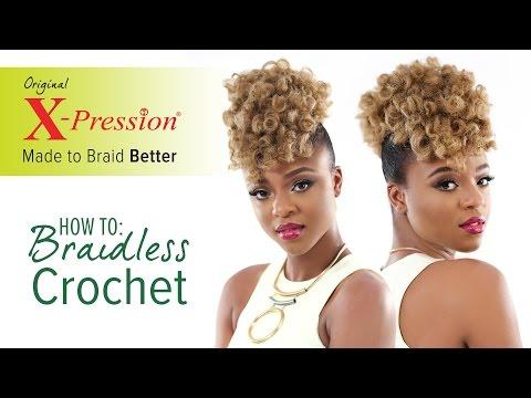 How to Curl and Braidless Crochet Braid | X-Pression Cuevana Twist