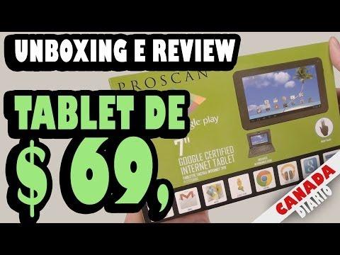 TABLET DE $ 69 DÓLARES (com teclado e case incluídos) - Unboxing e Teste