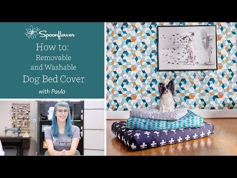 Custom Dog Bed Cover | Spoonflower