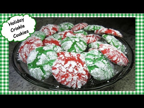 Christmas Crinkle Cookies Recipe ~ Cake Mix & Cool Whip Crinkle Holiday Cookie