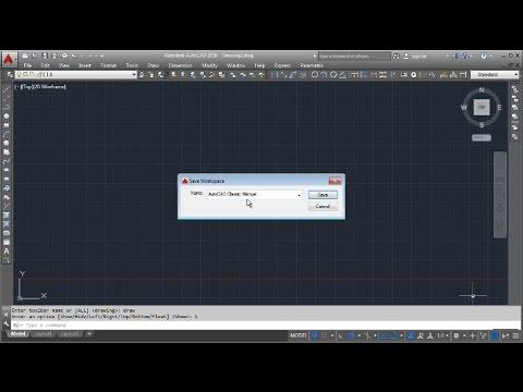 AutoCAD 2016 Classic Workspace Manual Settings