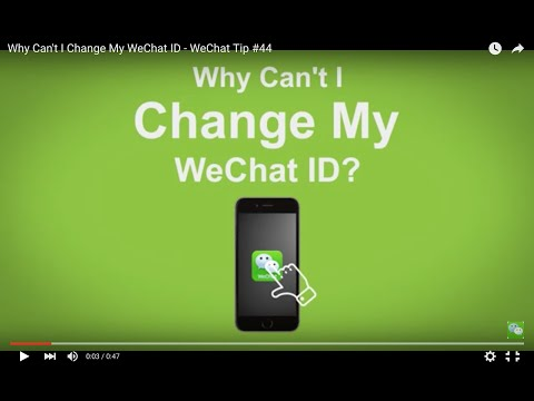 Why Can't I Change My WeChat ID - WeChat Tip #44