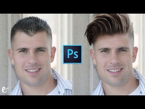 How to Change HairStyle in photoshop - Tutorial Photoshop