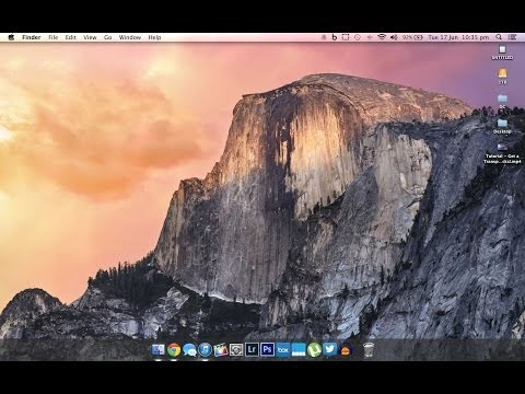 Tutorial: Get a Transparent Dock on OSX Mavericks!