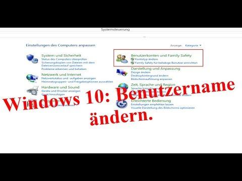 Benutzernamen ändern unter Windows 10