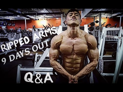 9 DAYS OUT | Ripped ARMS | Q&A: What Supplements are Essential? My Training Motivation & Advice