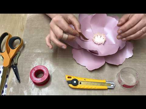 Paper flowers making with NO blisters, cuts and burns