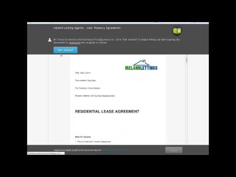 Tenancy Agreement E-signing