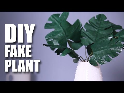 How To Make A DIY Fake Plant