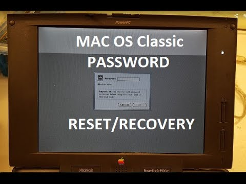 Mac OS Classic Password Reset/Recovery
