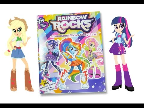 MLP Rainbow Rocks activity book My little pony