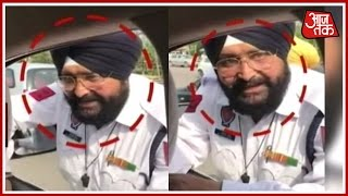 Traffic Police Caught Red-Handed By CM Of Ludhiana For Taking Bribe