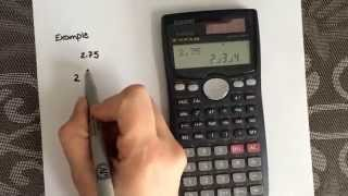 How To Convert From A Decimal To A Fraction Using The Calculator Casi