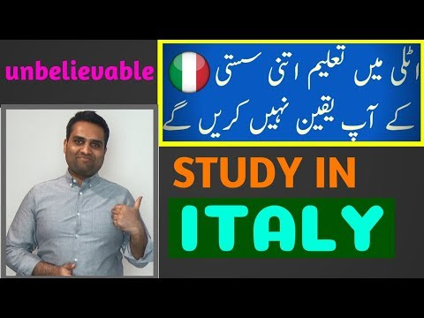 Study in ITALY For Pakistani and Indian Students