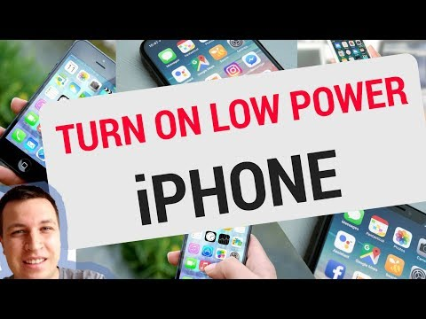 How to turn on/off LOW POWER MODE iPhone?