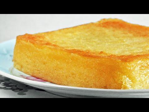 Kueh Bengka Ubi (Baked Tapioca Cake)