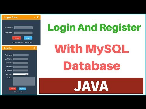 JAVA - How To Create Login And Register Form With MySQL DataBase In Java Netbeans