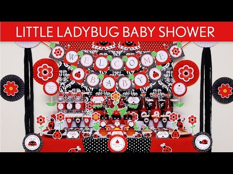Little Ladybug Baby Shower Party Ideas // Little Ladybug - S43