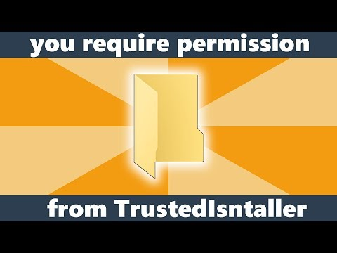 Fix you require permission from TrustedInstaller to change this folder Windows 10/8.1/7