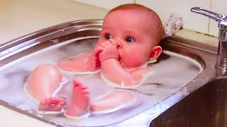 Funniest Adorable Baby Playing Water 🔴 Hilarious Baby