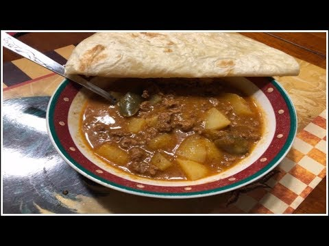 Picadillo~Carne Picada con Papas (meat and potato stew)