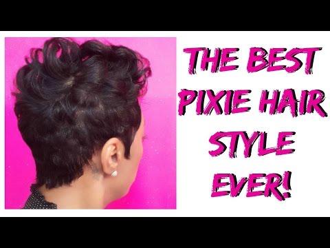 Short hair tutorial The BEST Pixie Hair Style EVER!