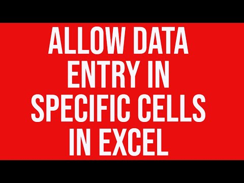 Allow data entry only in specific worksheet cells in Excel