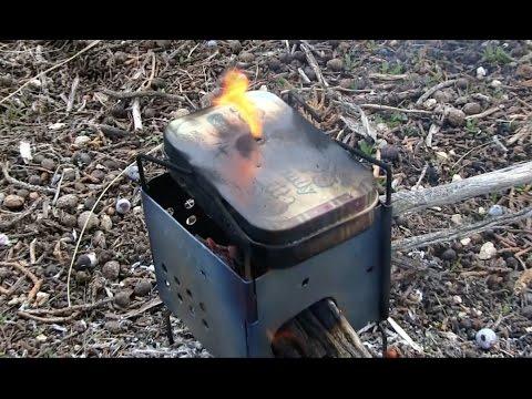 Making Char Cloth & Coffee! Flint & Steel Firemaking  / Ultralight Backpacking Firebox Nano Stove