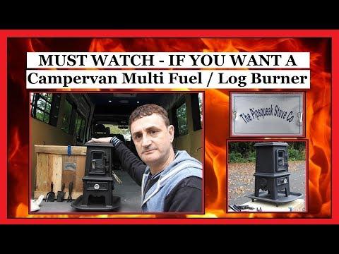 PIPSQUEAK Mini Multi Fuel Burner UN-BOXING - Wood - Log - Coal - SavvySurf - Vanlife