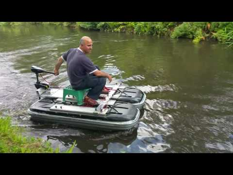 Electric outboard Bison  homemade boat  homemade pontoon homemade dinghy homemade tender  homemade