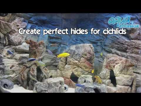 Aquarium Caves Beige Aquarium Ornaments Selection by Aqua Maniac