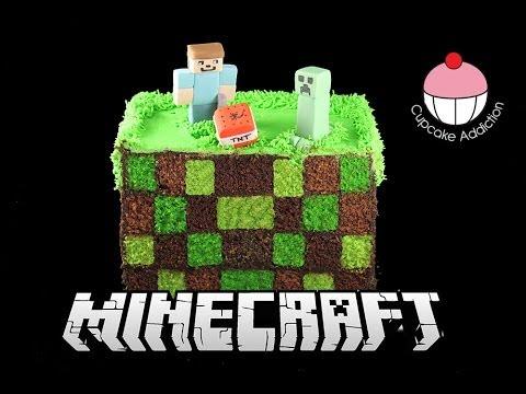 Square Checkerboard MINECRAFT Cake! How to Make a Surprise Inside Checker Board Cake