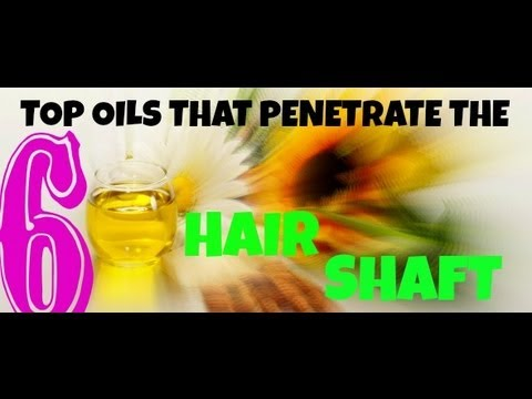 6 TOP NATURAL OILS THAT PENETRATE THE HAIR SHAFT