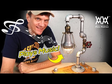 DIY Steampunk Lamp Plays Music! | ART & DESIGN | [Sponsored]