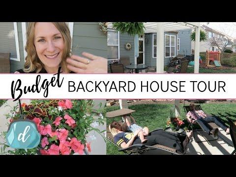 BACKYARD HOUSE TOUR 🏡 ...on a budget!
