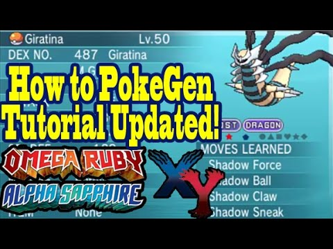 How To PokeGen In ORAS & XY Easily After Update! Full
