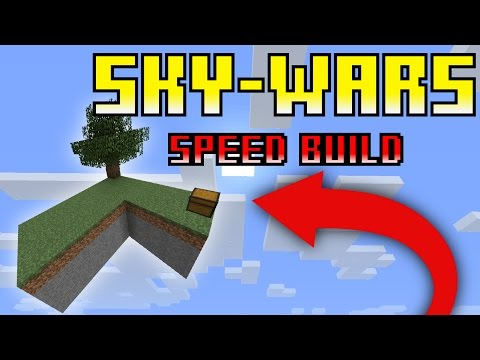 Sky Wars Map -Lone Plains | Minecraft Speed Build