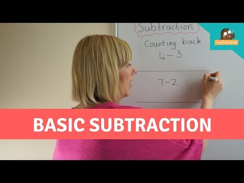 Mental Math for Kids - Basic Subtraction - Counting Back - Mental Maths Practice - Number Line to 10