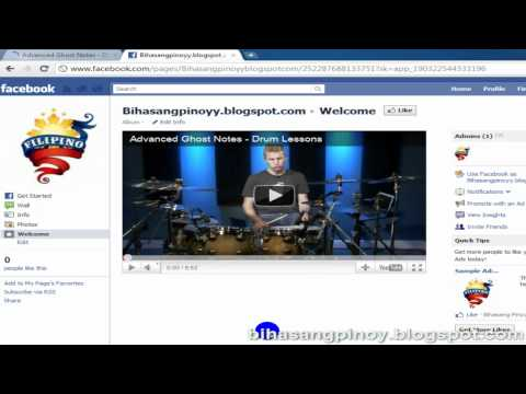 Insert Your Photo and Youtube Video, To Your Facebook Fan Page