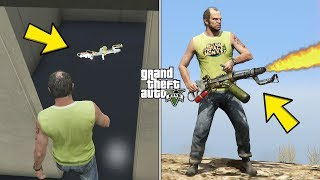 How To Get A Flamethrower in GTA 5! (Fort Zancudo Weapon)
