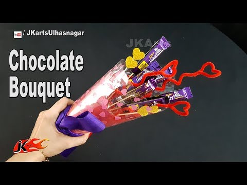 DIY Easy Chocolate Bouquet | Valentine's Day Gift Idea | JK Arts 1345