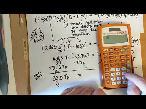 (The Answer) Calculating the final temperature when two objects reach thermal equilibrium (Part 2)