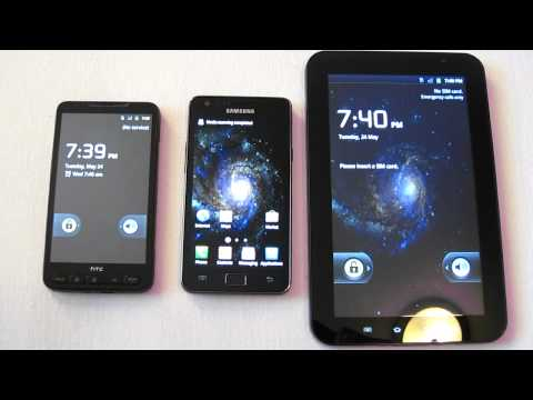 HTC HD 2 vs Samsung Galaxy S2 vs Samsung Galaxy Tab