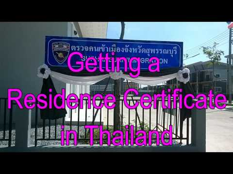 Getting a (Free) Residence Certificate in Thailand