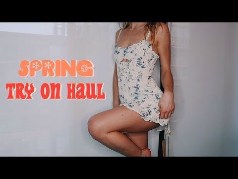 SPRING TRY ON HAUL (Zara, Urban Outfitters, Revolve + Bikinis)