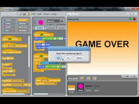 How to make an easy Ping Pong game (Scratch)