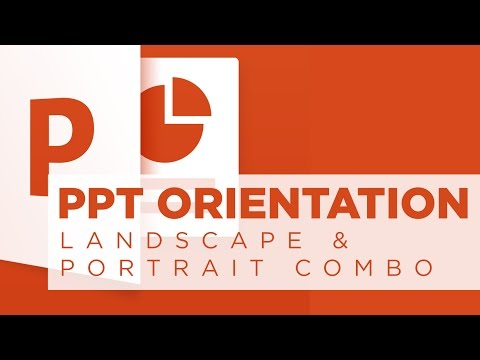 PowerPoint: Combine Landscape and Portrait Slides