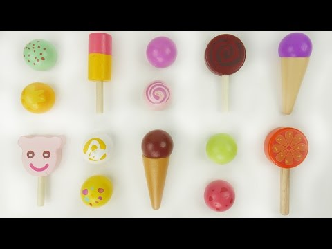 Learn colors with wooden ice cream toys
